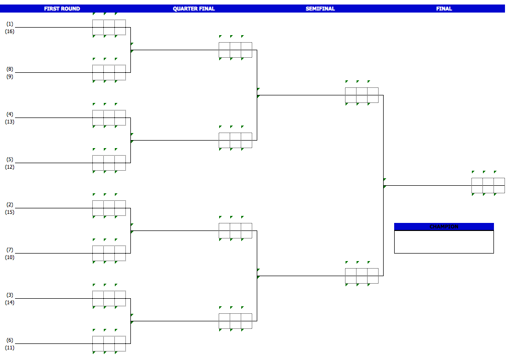 Badminton Tournament Bracket Template
