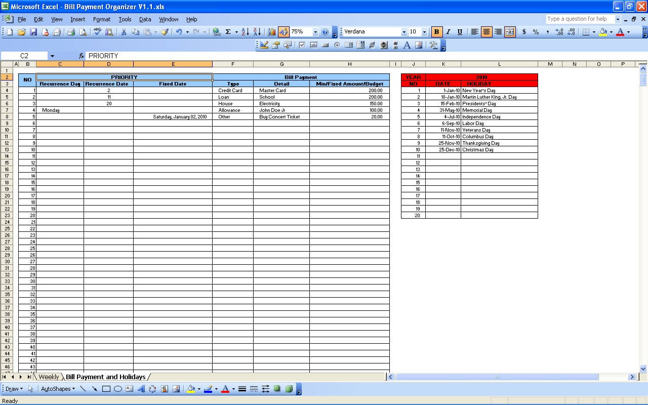 bill payment excel template akba katadhin co