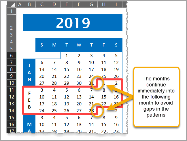Calendar Chart Month Input