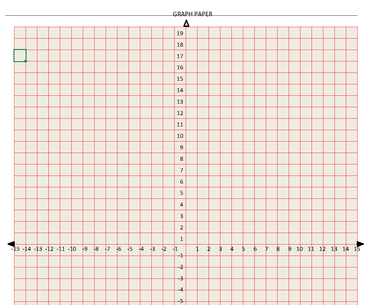 Coordinate Graph Paper Template with Axis and Labels Colors
