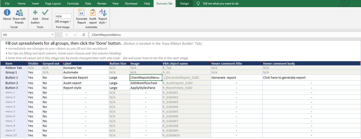 Easy Excel Ribbon Create Custom Ribbon