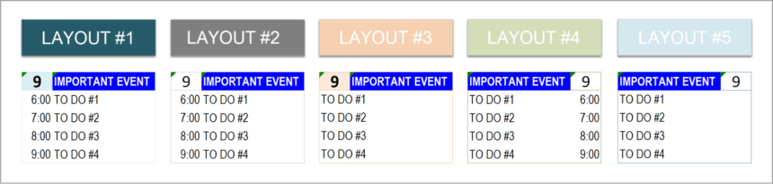 Event Calendar Template Todo List