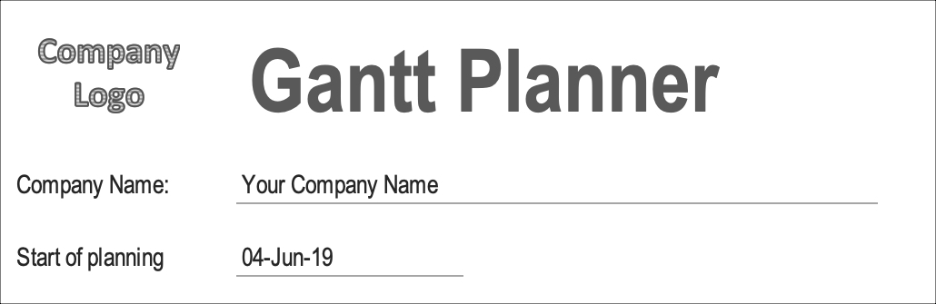 Gantt Chart for Project Management Start