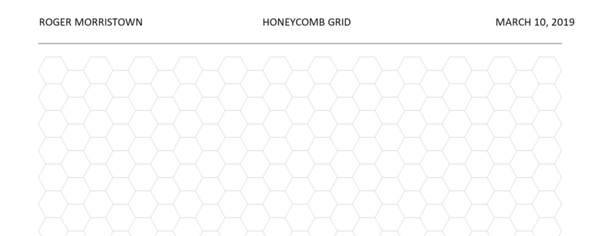Hexagonal Graph Template Personalize