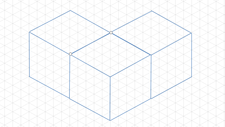 Isometric Graph Template Cubes