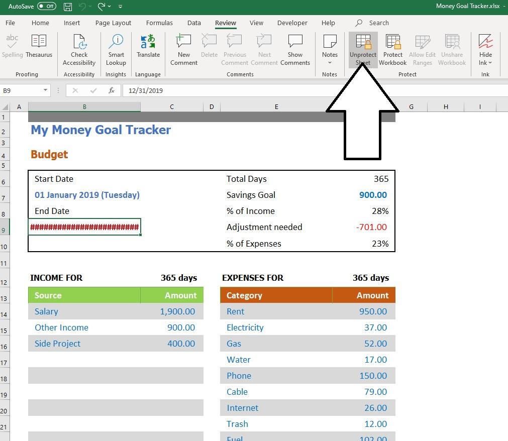 Money Goal Tracker Unprotect