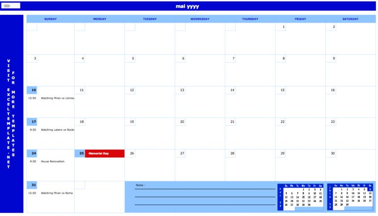 Monthly Planner dashboard