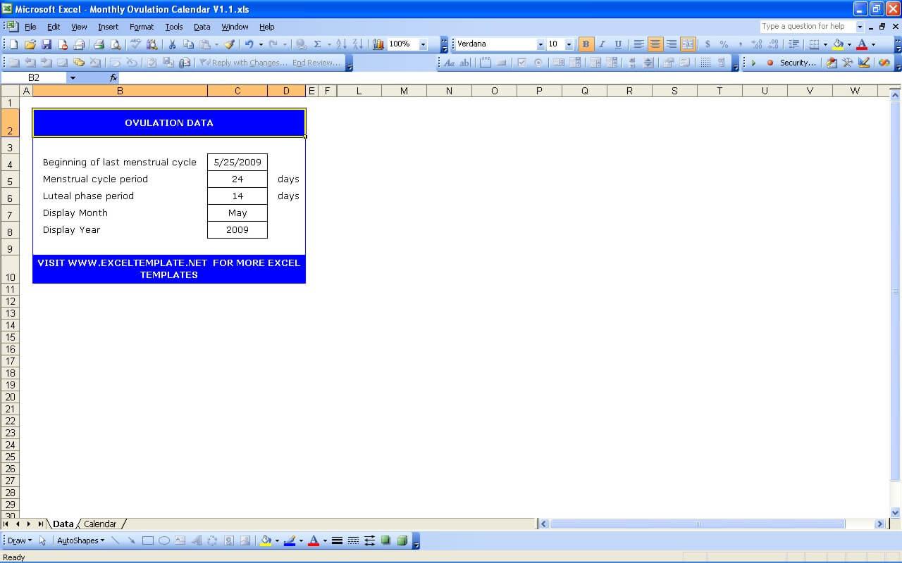 Ovulation Calendar Parameter
