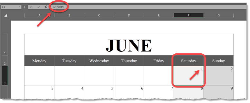 Portrait Calendar Graphics