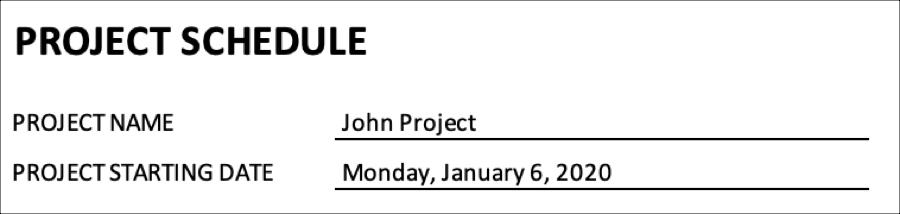 Project Schedule Basics