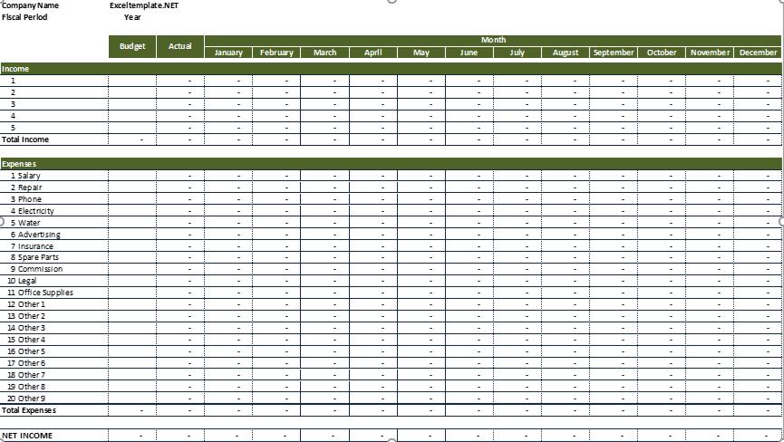 Rental Property Expense Worksheet Blank Summary