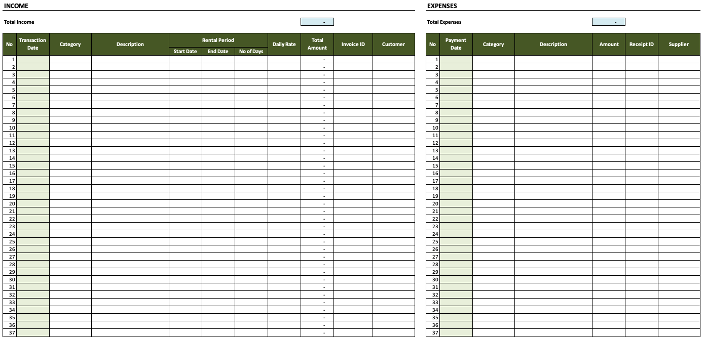 Rental Property Spreadsheet