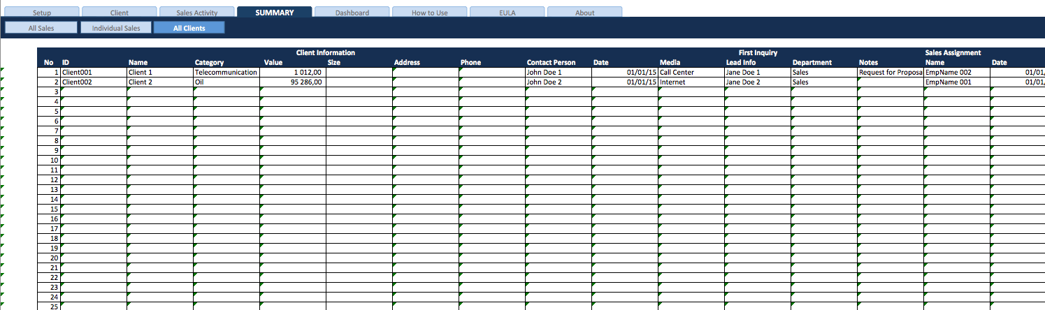 Sales Task List and Pipeline Manager » ExcelTemplate.net