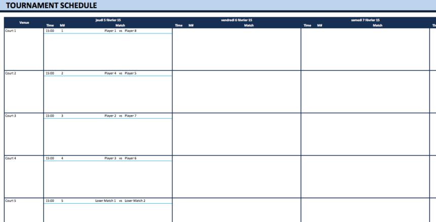 Single and Double Elimination Bracket Creator best 3 schedule