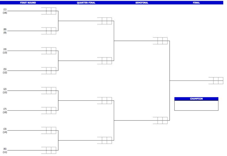 Tennis Tournament Brackets 16 players