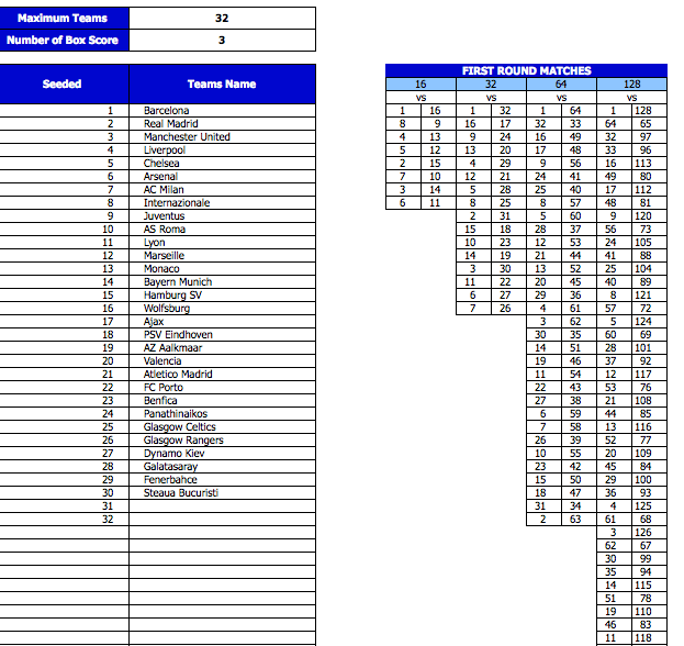 Printable Tournament Bracket Template » ExcelTemplate net