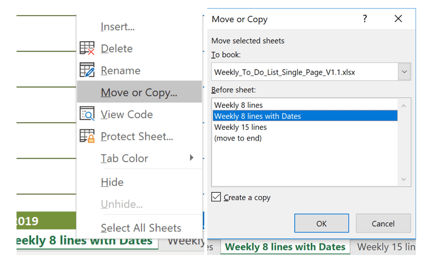 Weekly To Do List add new