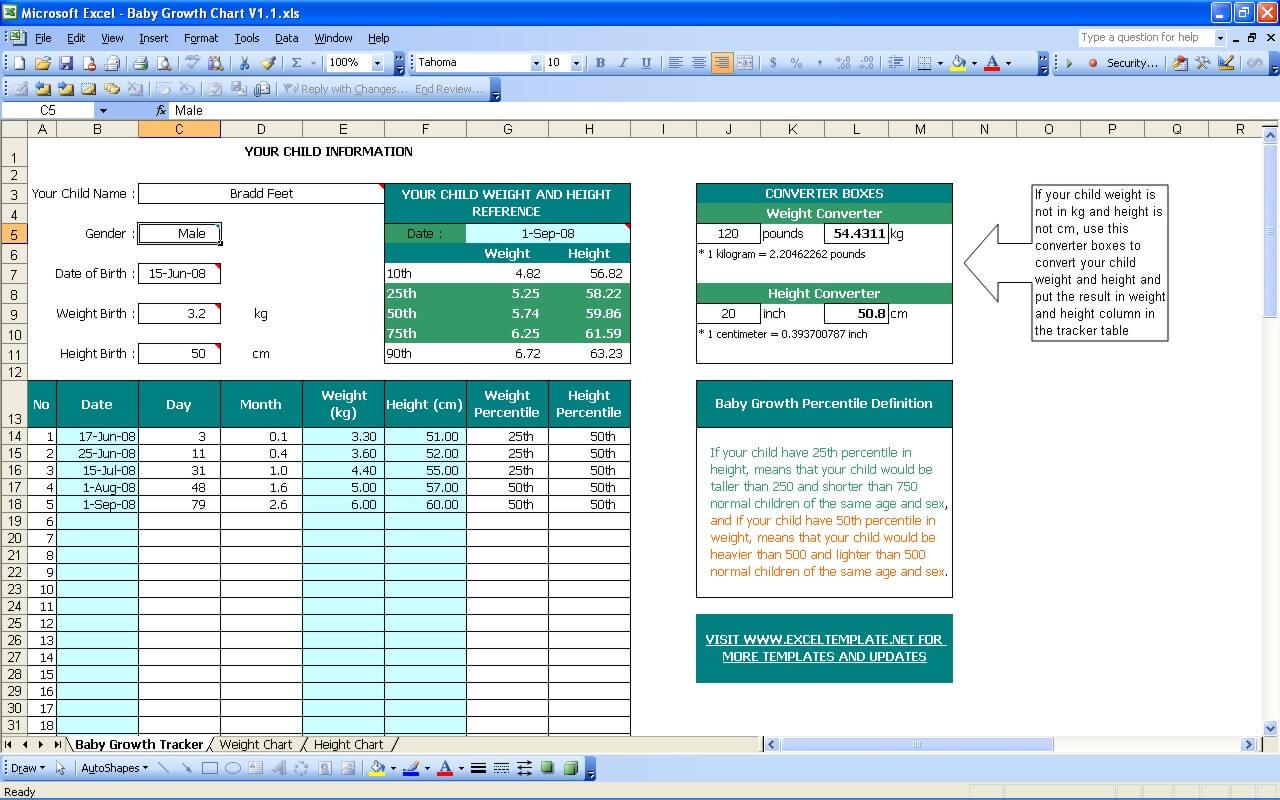 Baby Information Worksheet