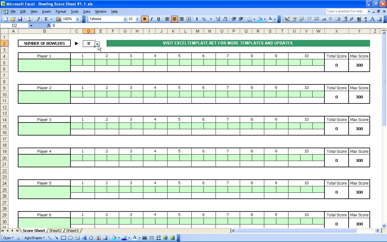 photo regarding Printable Bowling Score Sheet referred to as Bowling Rating Sheet »