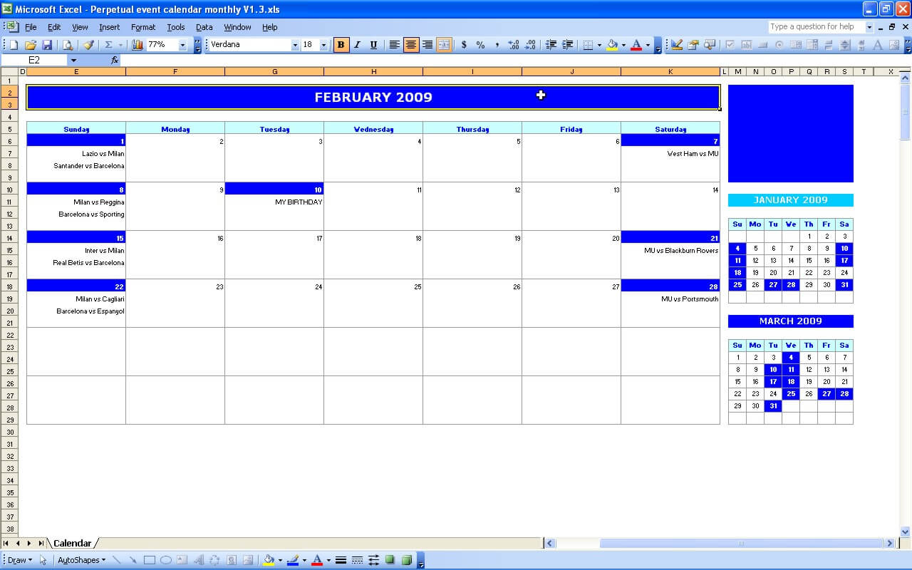 monthly event calendar  u00bb exceltemplate net