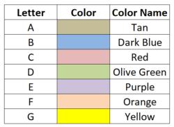 Construction Schedule Timeline Color Codes