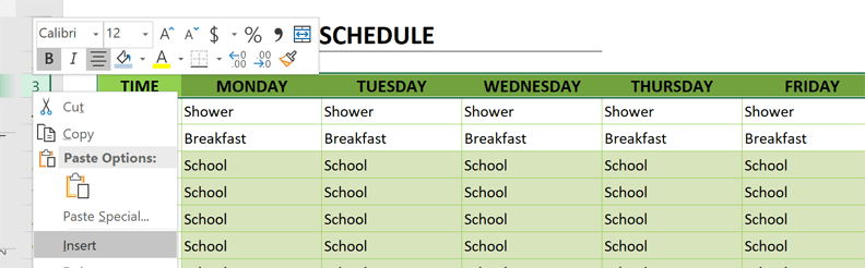 homeschool schedule add dates