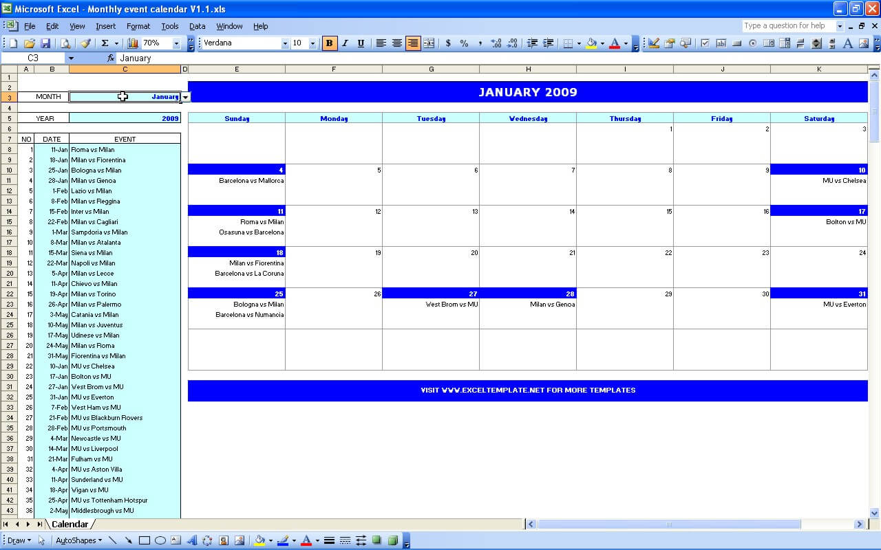 Monthly event calendar excel templates monthly event calendar saigontimesfo