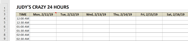schedule change title