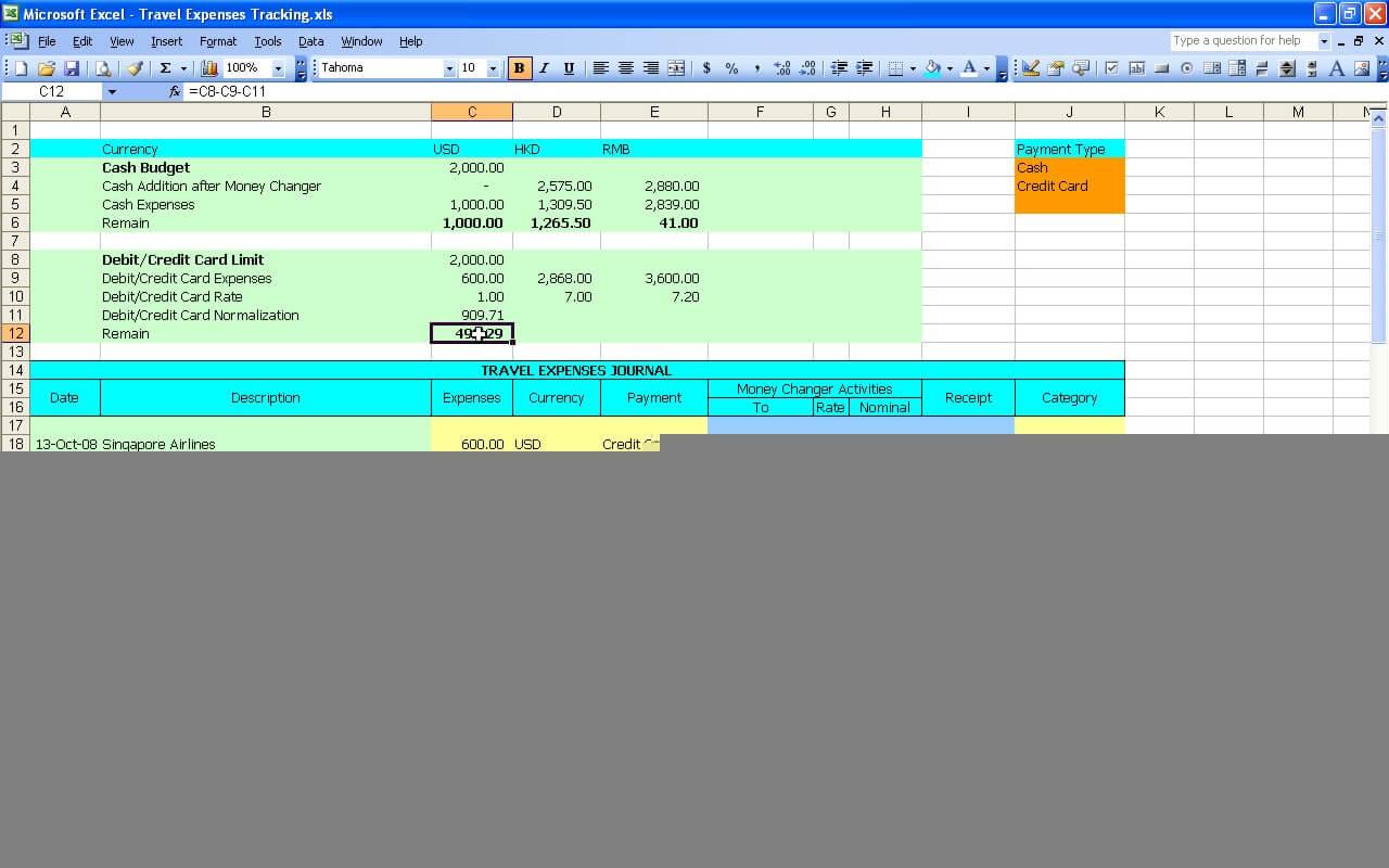 Travel Expenses Tracker