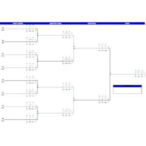 Badminton Tournament Bracket Template