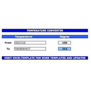 Excel Temperature Converter
