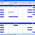Six Monthly Event Calendar