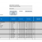Project Gantt Chart Template