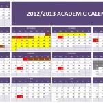 2012/2013 Academic Calendar