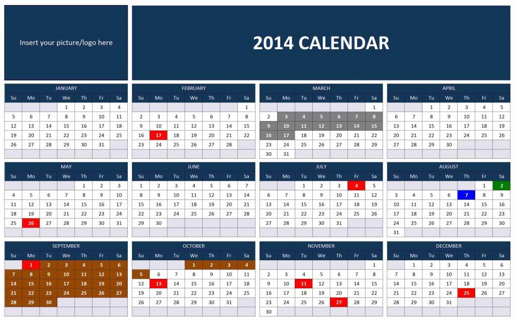 year 2015 calendar excel