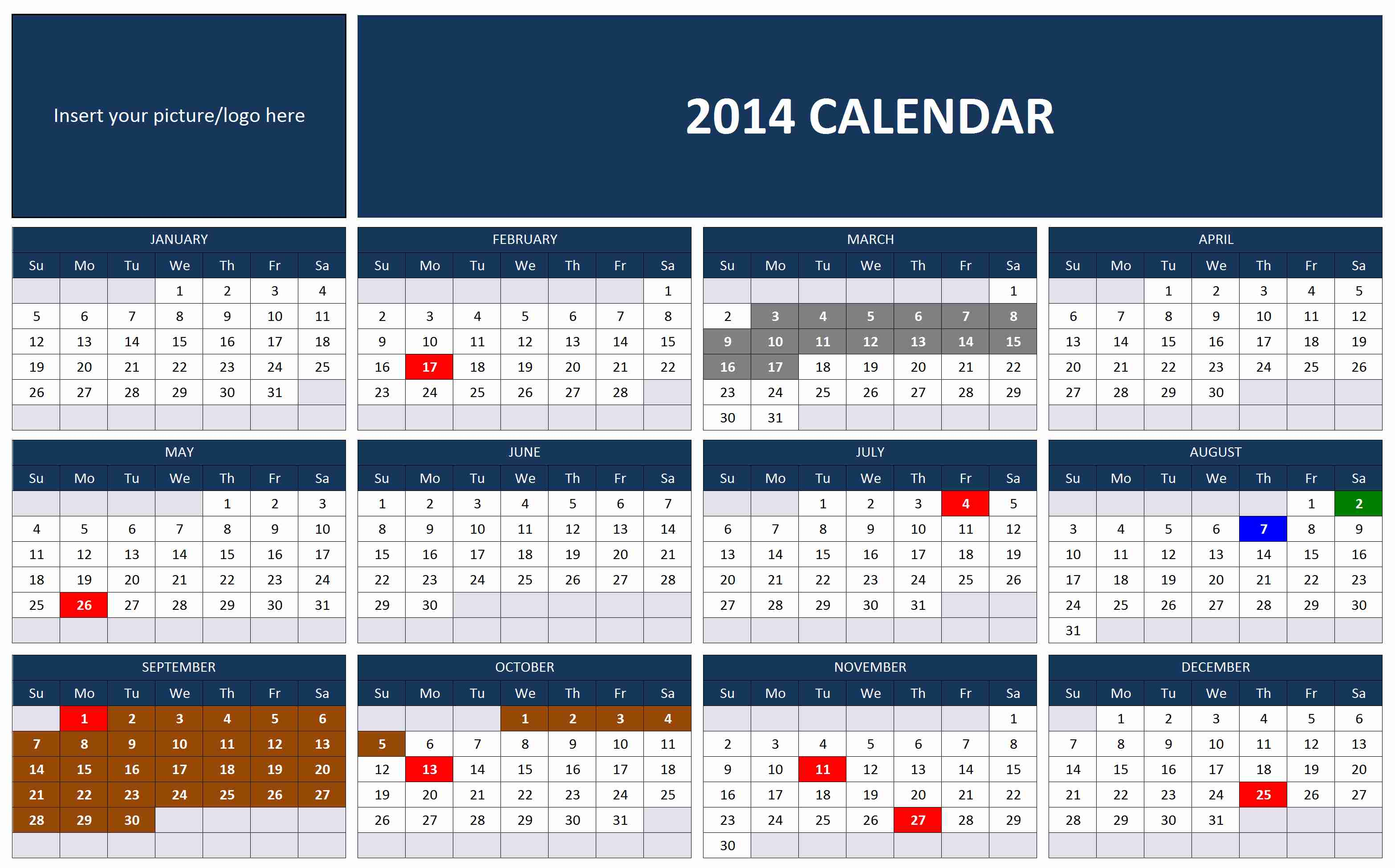 how to make a calendar in excel without template