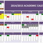 2014/2015 Academic Calendar
