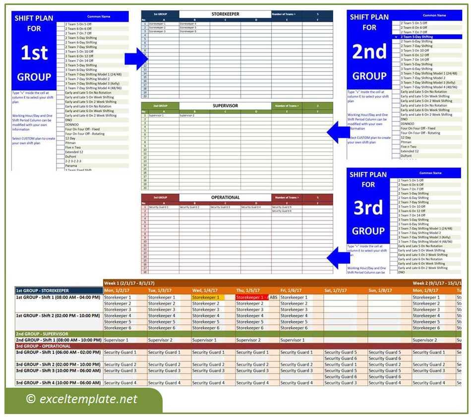 Employee Shift Schedule Generator   Excel Templates