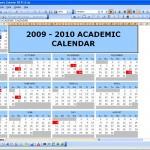 Academic Calendar 2009/2010