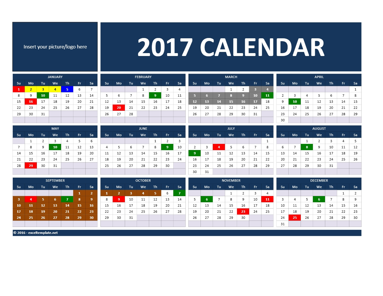 2017 and 2018 calendars excel templates 2017 calendar template model 1 saigontimesfo