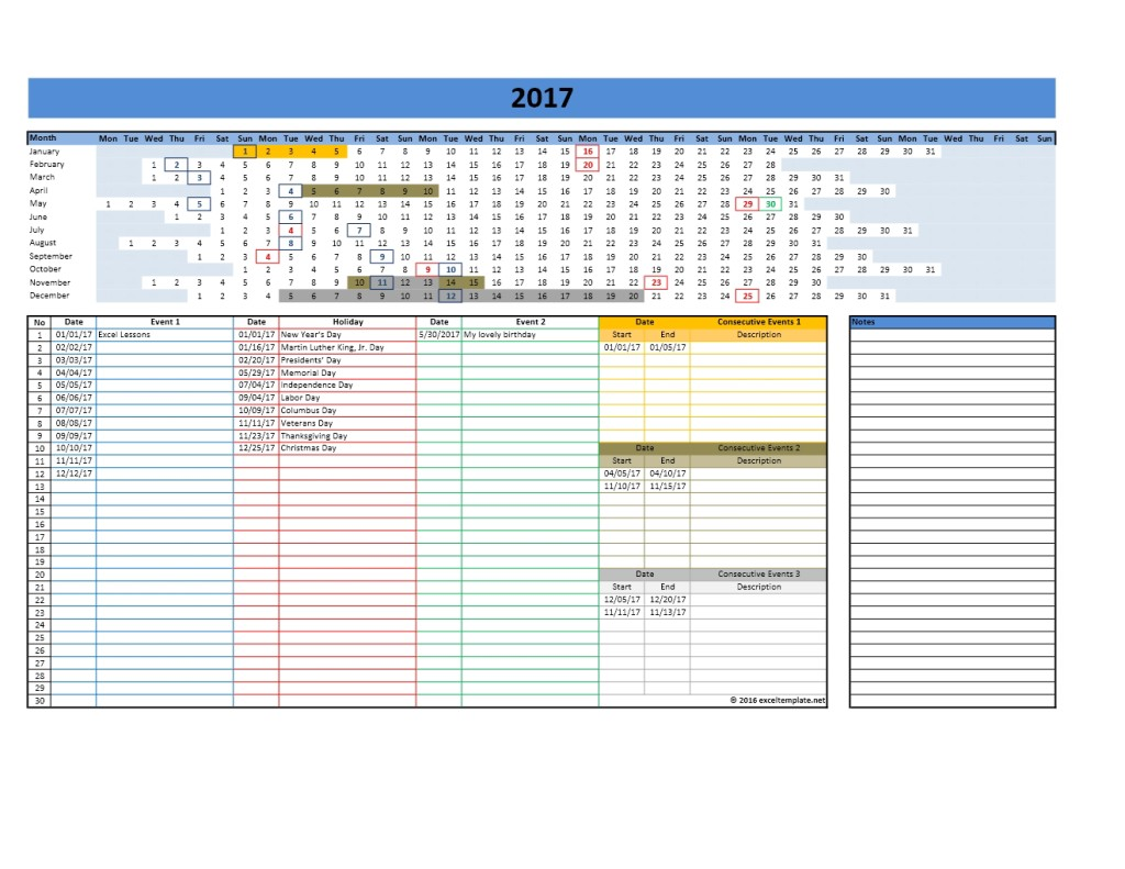 Calendar Templates For Excel : And calendars excel templates