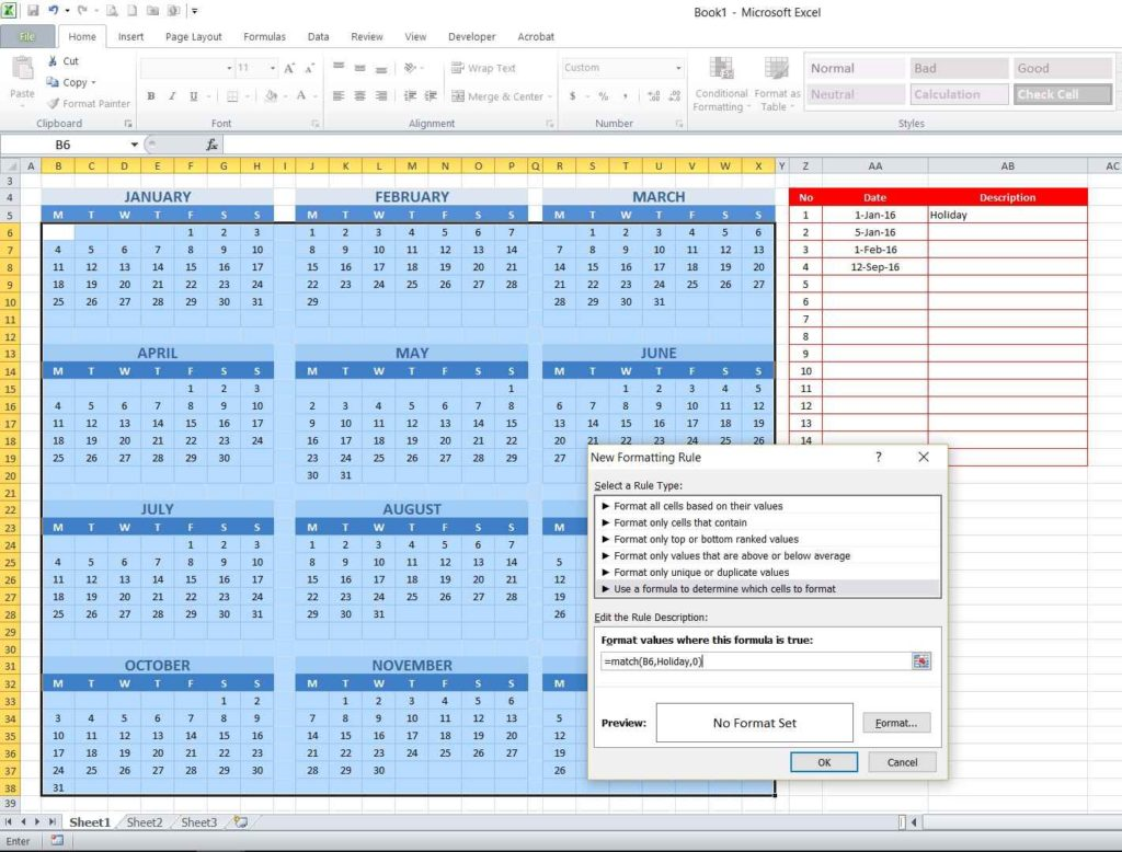 Picture 12 - Typing conditional formatting formula