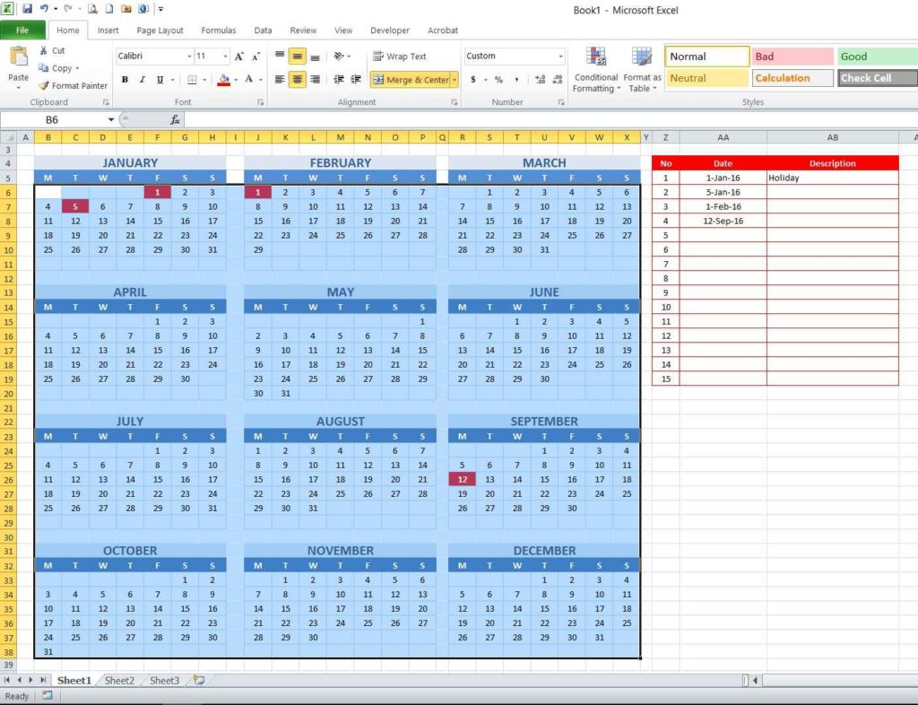 Picture 13 - Conditional formatting rules implementation