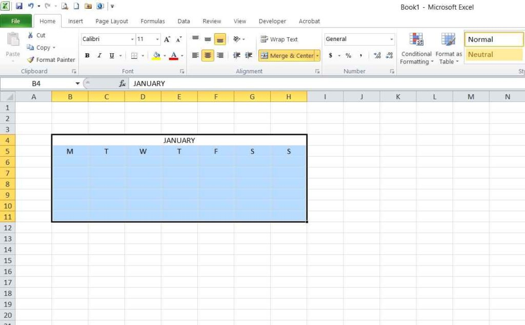 Picture 2 - Month table template