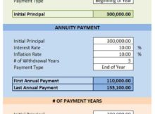 Annuity Calculator Excel Template