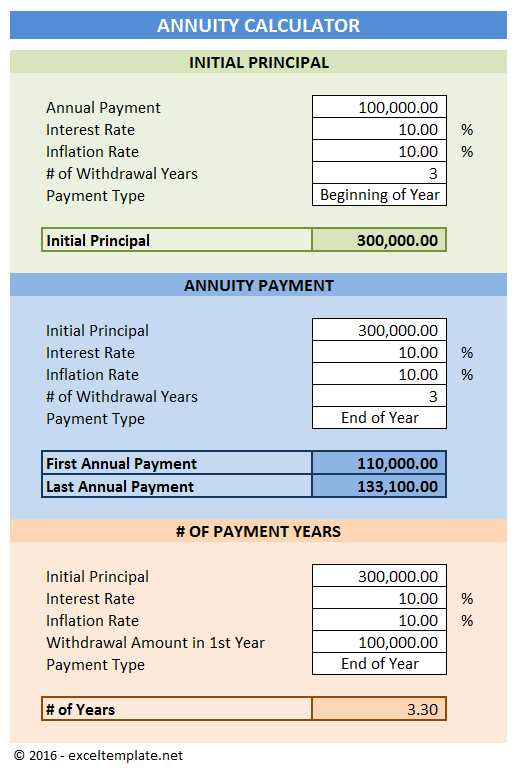 Annuity Calculator | Excel Templates