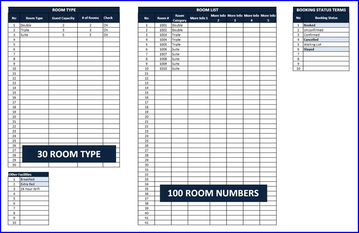 Room Booking Calendar - Room Setup