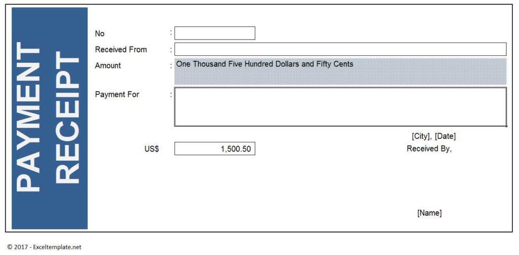 Payment Receipt Template Model 2