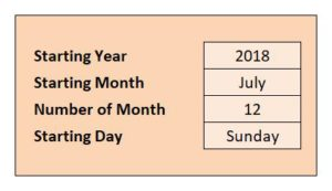 Yearly School Calendar - Setup View